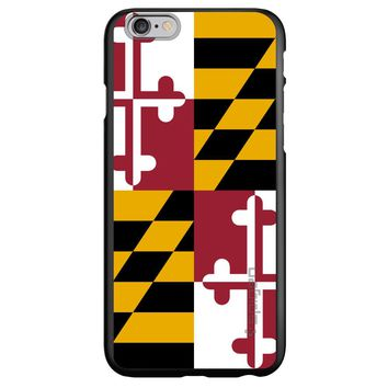 DistinctInk® Spigen ThinFit Case for Apple iPhone or Samsung Galaxy - Maryland State Flag