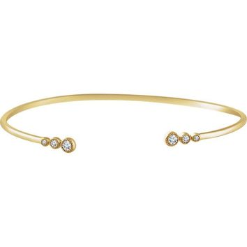 Accented Graduated Bangle Bracelet