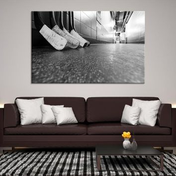 59318 - Black and White Hockey Stick Blades Canvas Print, Hockey Sticks Wall Art, Ice Hockey Wall Art, Hockey Sticks Canvas, Ice Hockey Canvas, Large Wall Art, Large Canvas