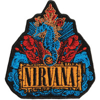 Nirvana Men's Floral Embroidered Patch Black