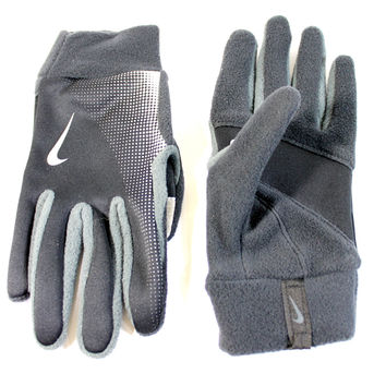 Nike Women's Elite Storm Fit Tech Black/Gray Fleece Running Gloves