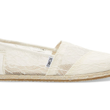 TOMS White Lace Rope Women's Classics White