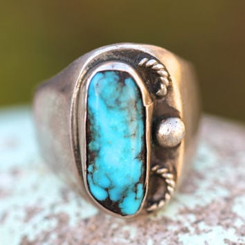 Men's, Navajo,Sterling Silver,Ring,Signet, Large, Men's Jewelry, Men's Rings