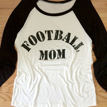 Football Mom Baseball Shirt