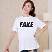 Cute FAKE Design Style White and Black Reaclothstore