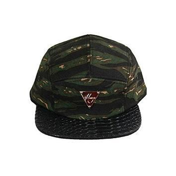 Authentic Hater Tiger Camo Snakeskin 5 Panel Hat Supreme Snapback Cap
