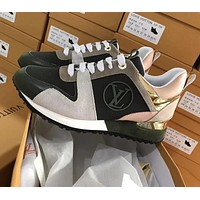 Louis Vuitton LV Popular Women Personality Color Matching Casual Lace-Up Sport Sneakers Shoes Black/Grey/Orange Pink I-ALS-XZ