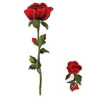 2Pcs Cute Flower Rose Patches DIY Patches for Clothes Sew on Embroidered Patch Badge Garment Cheongsam Appliques DIY Accessory