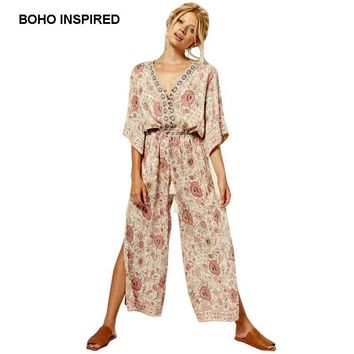 Boho Chic Slit Pants Romper