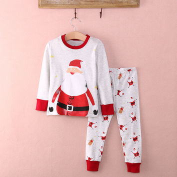 New Kids Baby Boy Girl  Christmas Top Pant Sleepwear Pajamas Nightwear Pjs Clothes Set