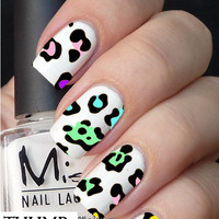 Cheetah Pattern nail Decals nail decal nail sticker nail art