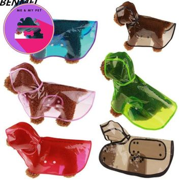 Pet Dog Raincoat Clothes For Small Big Dog Colorful Transparent