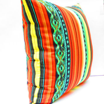 Southwestern Decor, Aztec Pillow Covers, Tribal Cushion covers, Colorful Pillow Covers, Bohemian Decor, Large Pillow Cover 20 Inch