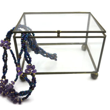 Clear Glass Display Case - Glass Jewelry Box