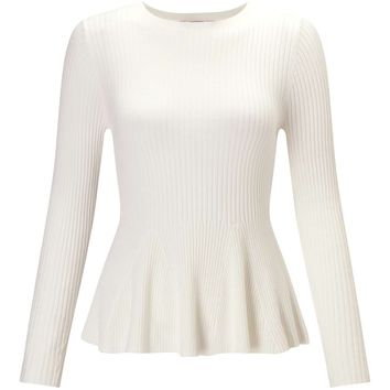 Petites Knitted Peplum Top - Miss Selfridge