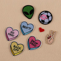 1 Set Assorted sew on patches