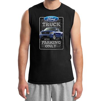 Ford Truck Parking Sign Muscle Shirt