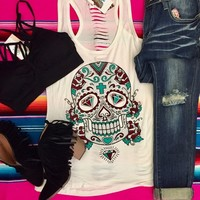 Calavera tank top from PeaceLove&Jewels