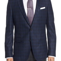 BOSS Nobis Trim Fit Plaid Wool Sport Coat | Nordstrom