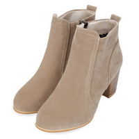 New Arrival Nice Fashion Sexy Stylish Side Zipper Scrub Martin Boots Pure Color Women High Heel Shoes Winter Boots
