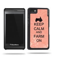 Keep Calm And Farm On Coral Floral Blackberry Z10 Case - For Blackberry Z10