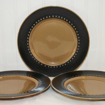 Tahiti Franciscan Discovery (c. 1964/65) by Interpace Brown and Tan Dinner Plate, Retro Coolness, Vintage Dinnerware