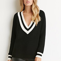 Varsity Stripe V-Neck Sweater
