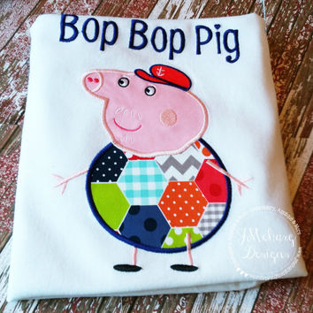 Peppa Pig Family Grandpa Pig Birthday Custom Tee Shirt - Customizable -   Adults