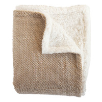 Shelley Gold Super Soft Melange Waffle Throw