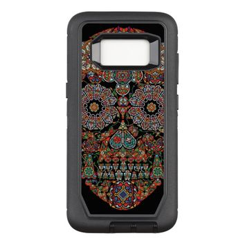 Flower Sugar Skull OtterBox Defender Samsung Galaxy S8 Case