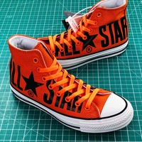 Converse All Star 100th Orange Balck High Top Shoes - Best Online Sale