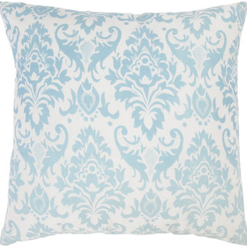 "Printed Pattern Aqua Pillow Cover (18"" x 18"")"