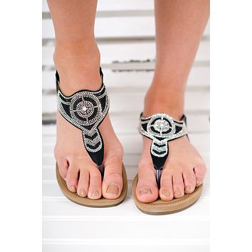 Add A Little Sparkle Sandals (Black)