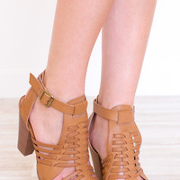 Auden Caged Heels - Tan