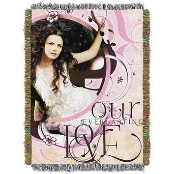 Disney Once Upon a Time Our Everlasting Love 48x60 Metallic Woven Tapestry Throw