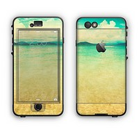 The Vintage Vibrant Beach Scene Apple iPhone 6 Plus LifeProof Nuud Case Skin Set