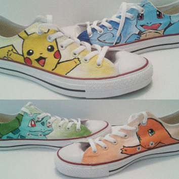 Pokemon Converse Shoes (Pikachu, Charmander, Squirtle, Bulbasaur)