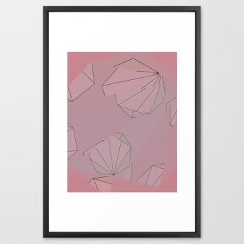 Shapes Shifted Framed Art Print by Ducky B