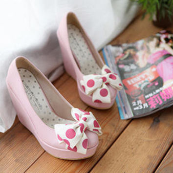 YESSTYLE: Smoothie- Bow-Accent Wedges - Free International Shipping on orders over $150