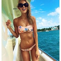 Fashion Sexy Two-Piece Print Bikini Swimsuit