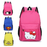 Children School Bag Cartoon Hello Kitty Superman Backpacks For Primary School Student Boys Girls Boys Kids Gift 6-12 Years Old