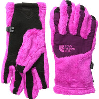 The North Face Denali Thermal Etip Azalea Pink/Parlour Purple Girl's Gloves, Medium