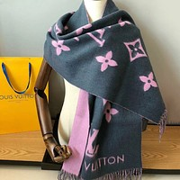 Perfect Louis Vuitton LV  Women Wool Scarf Shawl Scar Silk
