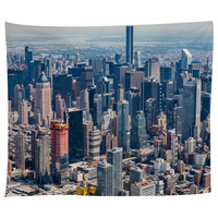 New York City from Above Tapestry