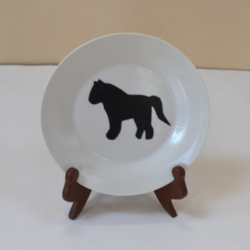 Pony Decoupage Plate, Horse Lover, Plate Art Decoupage, Horse Decor, Nature Lover, Cabin Decor, Wall Decor, Kitchen Accents, Animal Decor