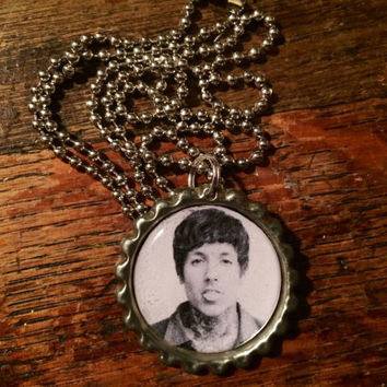 Oliver Sykes Bring Me the Horizon face bottlecap necklace