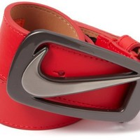 Nike Men's Signature Swoosh Cutout II Belt, University Red, 34