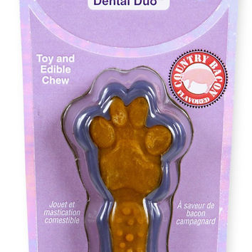 Hartz Tiny Dog Dental Duo Edible Center Bacon Flavor Chew & Toy