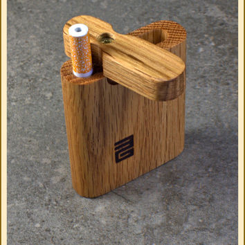 Handcrafted Small Oak Swivel lid Dugout with Bat