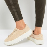 Puma Platform Trace Trainers In Sand With Contrast Sole at asos.com